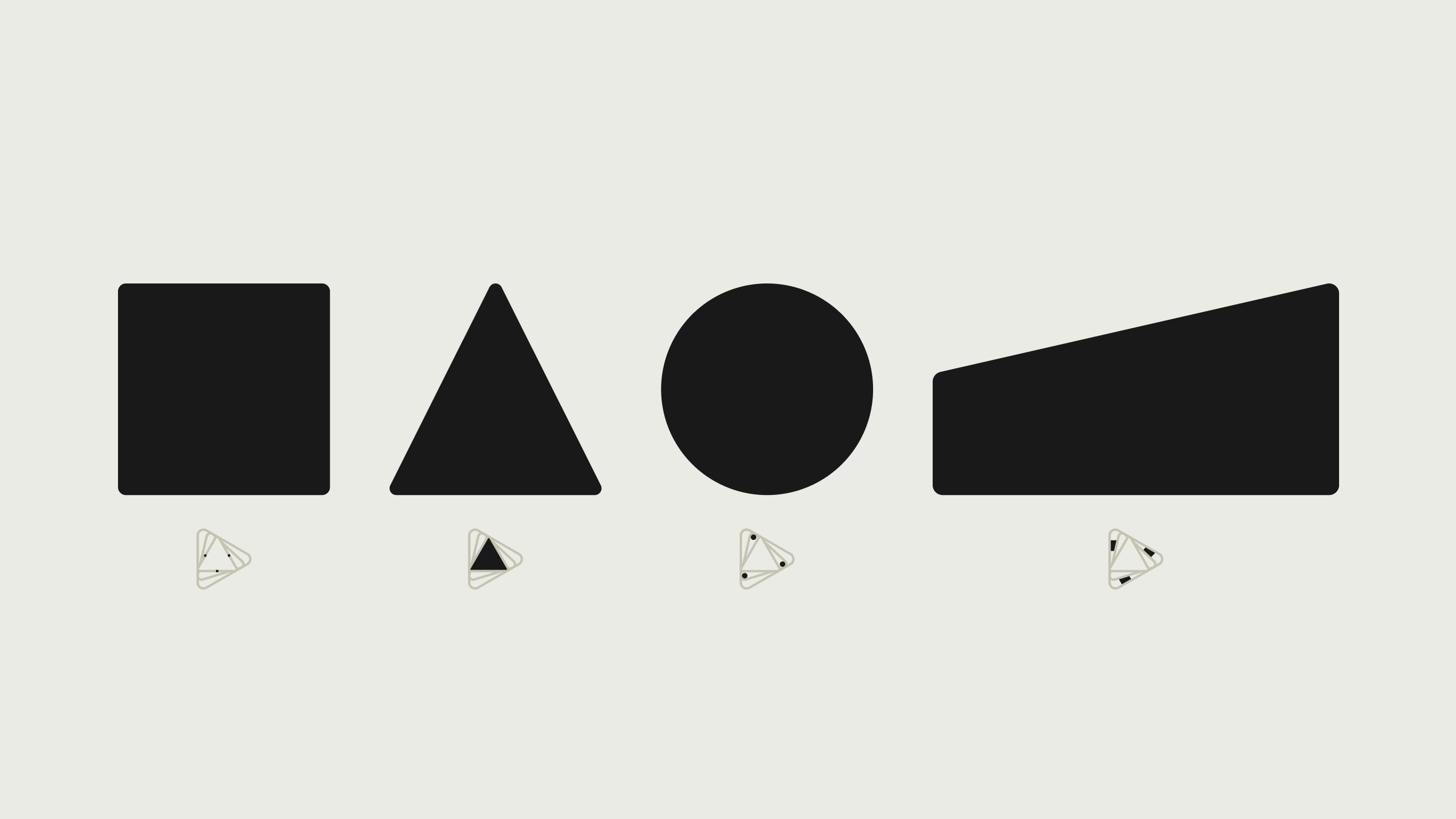 Four shapes in our graphic system