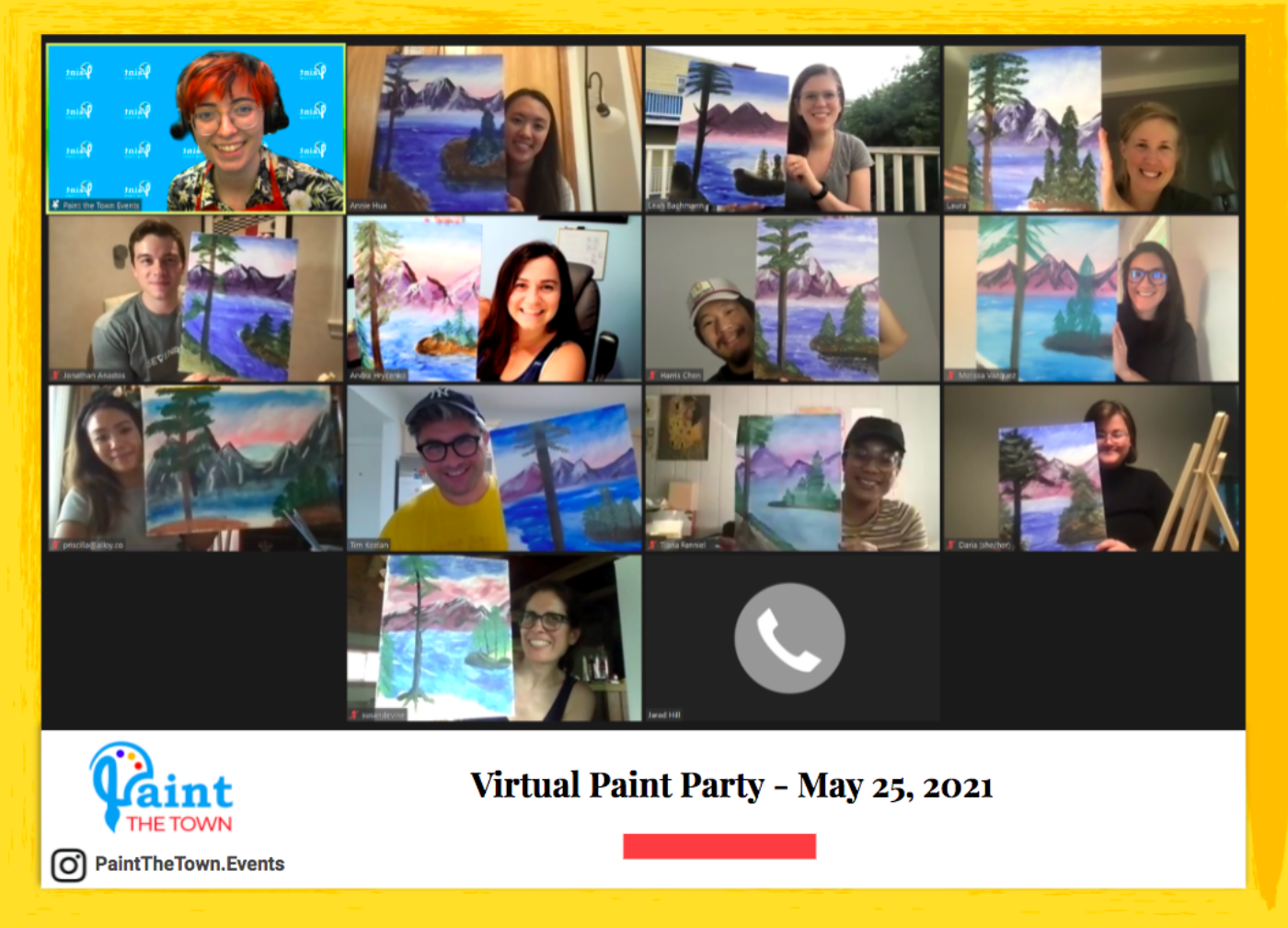 Careers virtual paint party